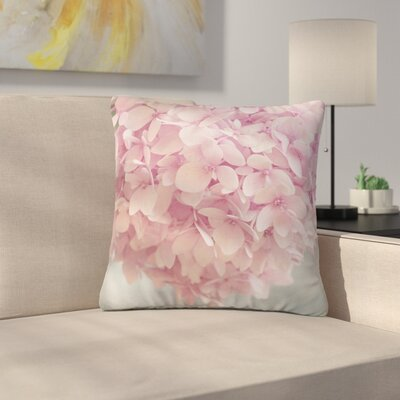 Suzanne Harford Hydrangea Flowers Floral Outdoor Throw Pillow Size: 16 H x 16 W x 5 D