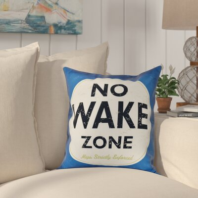 Golden Beach Nap Zone Word Outdoor Throw Pillow Size: 20 H x 20 W, Color: Blue