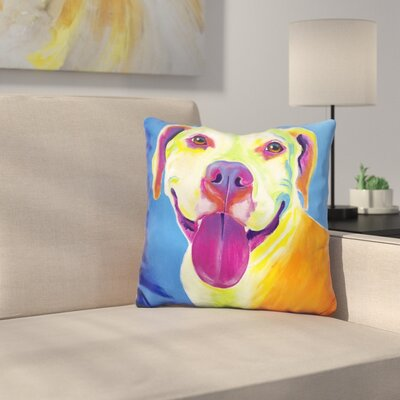 Pit Bull Daisy Throw Pillow