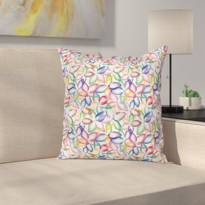 Flower Petals Square Pillow Cover Size: 24 x 24