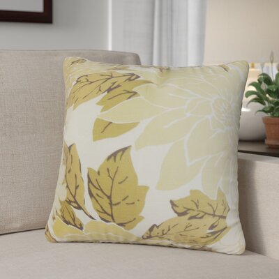 Raluca Floral Cotton Throw Pillow Color: Tan