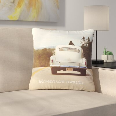 Angie Turner Adventure Awaits Outdoor Throw Pillow