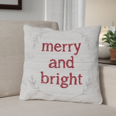 Boudreaux Merry and Bright Throw Pillow Size: 16 x 16