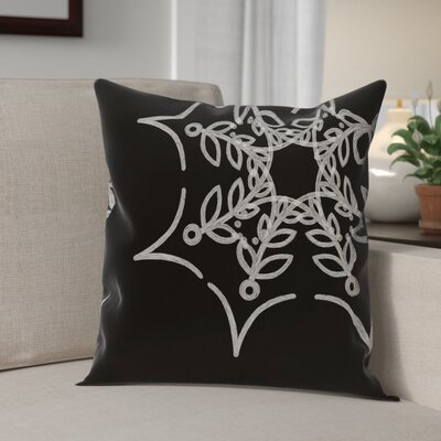 Web Art Holiday Print Outdoor Throw Pillow Size: 20 H x 20 W, Color: Black