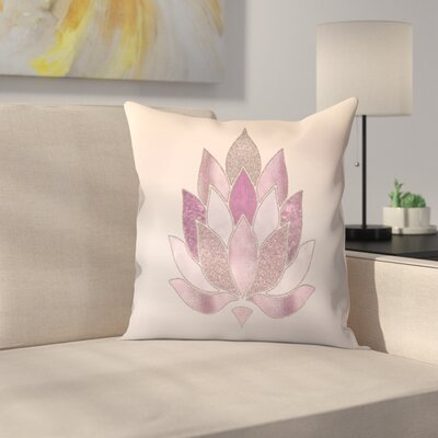 Lotus Throw Pillow Size: 14 x 14