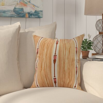 Crider Oar Stripe Trio Print Indoor/Outdoor Throw Pillow Color: Ivory, Size: 16 x 16
