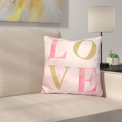 Love Glitter Throw Pillow