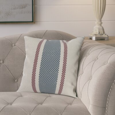 Kaylor Indoor/Outdoor Throw Pillow Color: Rust, Size: 18 x 18