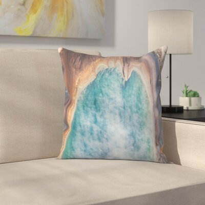 Luke Gram Grand Prismatic Spring Wyoming Throw Pillow Size: 14 x 14
