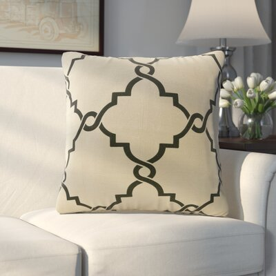 Allard Fretwork Throw Pillow Color: Khaki/Black