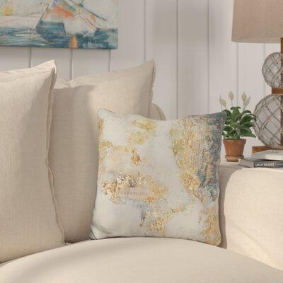 Callicoat Gilded Aerial Throw Pillow