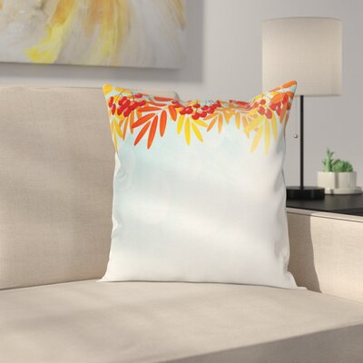 Fruits on Branches Square Pillow Cover Size: 24 x 24