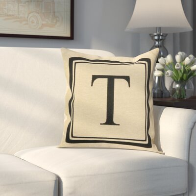 Beaver Creek Monogram Throw Pillow Letter: T