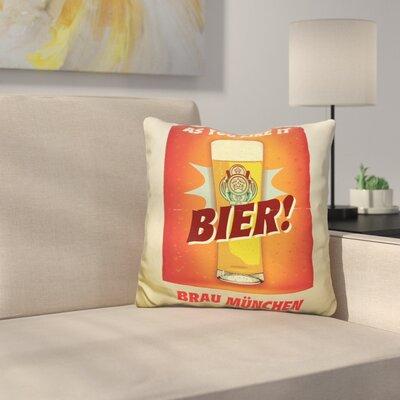 Bier Brau M�nchen Throw Pillow