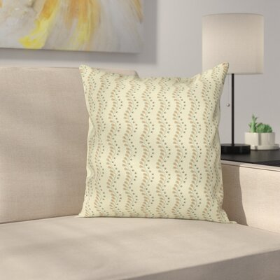 Floral Wavy Pillow Cover Size: 24 x 24