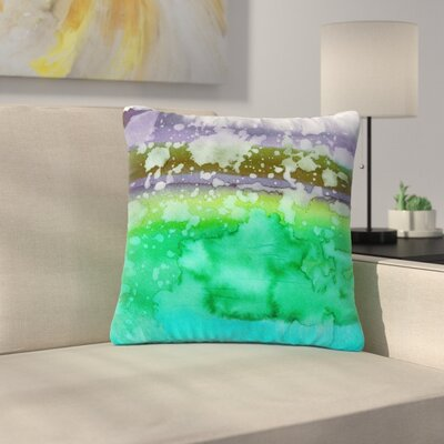 Ebi Emporium California Surf Outdoor Throw Pillow Size: 18 H x 18 W x 5 D, Color: Teal/Purple