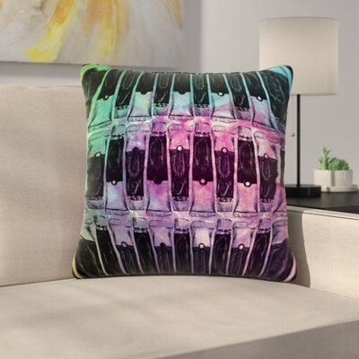 Paint Tubes by Theresa Giolzetti Outdoor Throw Pillow Color: Black/Pink