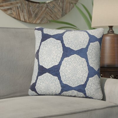 Aurick Geometric Cotton Throw Pillow Color: Indigo