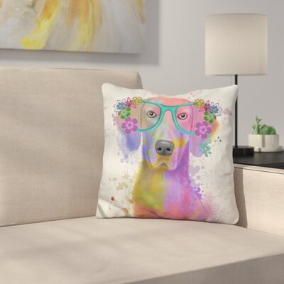 Weimaraner Portrait Throw Pillow