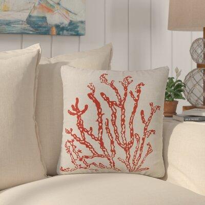 Inzurza Coral 100% Cotton Throw Pillow