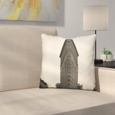 Flatiron Building Nyc Throw Pillow