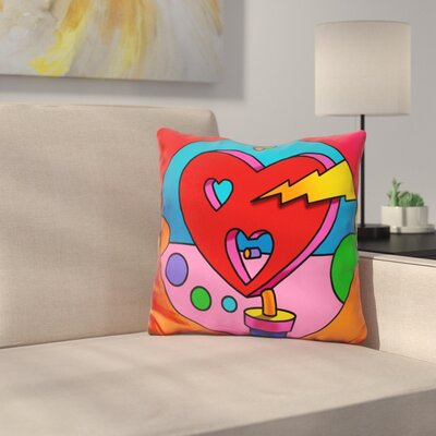 Lightning Heart Circle Throw Pillow