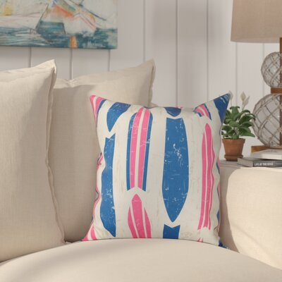Golden Beach Dean Geometric Outdoor Throw Pillow Size: 18 H x 18 W, Color: Pink