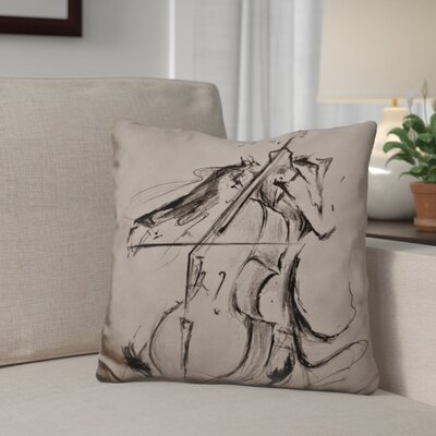 Gilmartin The Cellist Throw Pillow