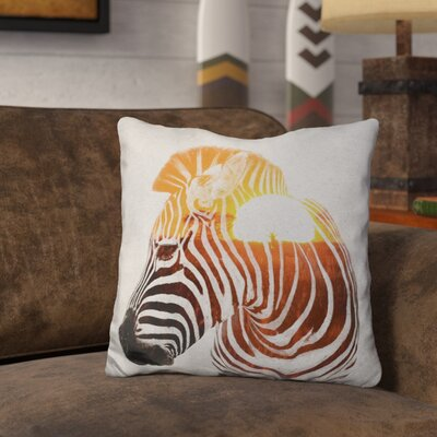 Lemanski Zebra Andreas Lie Throw Pillow