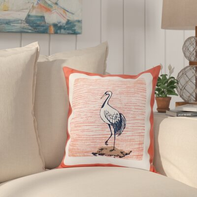 Boubacar Sandbar Animal Print Throw Pillow Size: 16 H x 16 W, Color: Coral