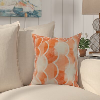 Crider Geometric Print Indoor/Outdoor Throw Pillow Color: Orange, Size: 18 x 18