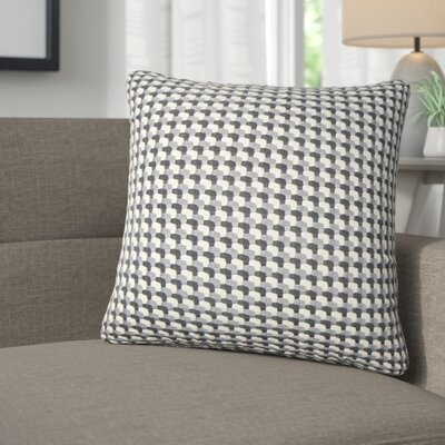 Salma Geometric Throw Pillow Color: Gray