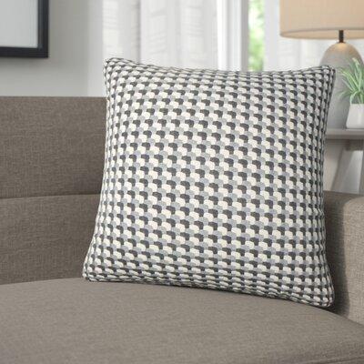 Salma Geometric Throw Pillow Color: Gray