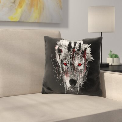 Wolf Eye Throw Pillow