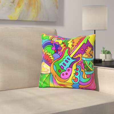 Guitar Drum Throw Pillow