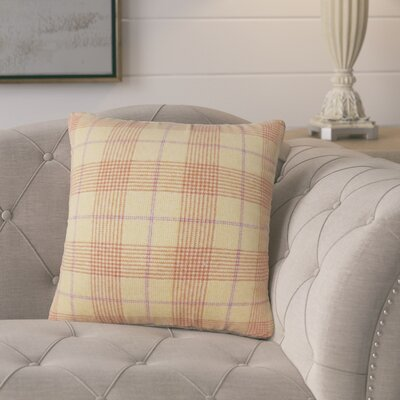 Harriette Plaid Throw Pillow Color: Brown