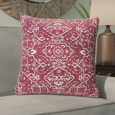 Brandon Throw Pillow Size: 20 H x 20 W x 4 D, Color: Burgundy
