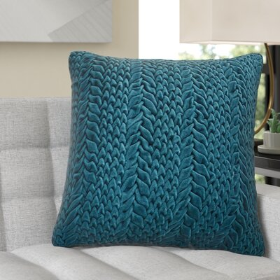 Stoney Littleton 100% Cotton Throw Pillow Size: 22 H x 18 W, Color: Teal Green, Filler: Down