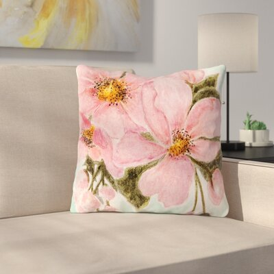 Fumiko by Christen Treat Throw Pillow Size: 16 H x 16 W x 3 D