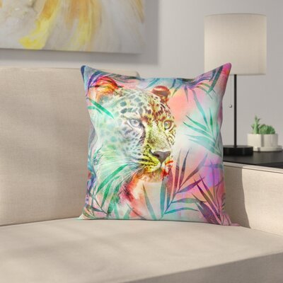 Gepard Throw Pillow Size: 14 x 14, Color: Light Pink