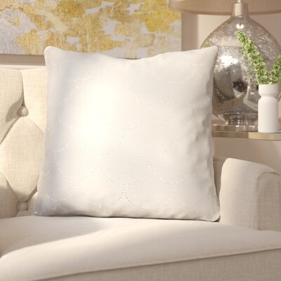Adison Diamond Scale Throw Pillow Color: Silver