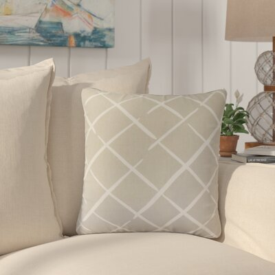 Frances Geometric Cotton Throw Pillow Color: Gray