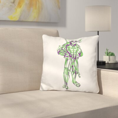 Turtle Donatello Throw Pillow