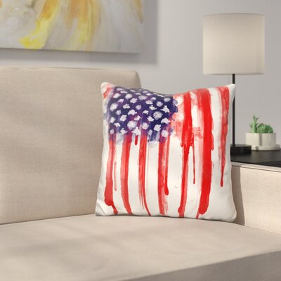 Spatter Flag Throw Pillow