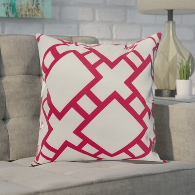 Gerken Indoor/Outdoor Throw Pillow Color: Pink/Fushcia, Size: 18 x 18