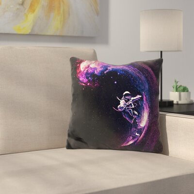 Space Throw Pillow Color: Black/Violet
