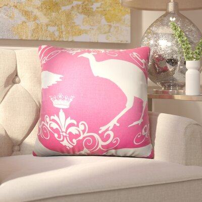 Kalea Animal Print Cotton Throw Pillow Color: Candy Pink, Size: 22 x 22