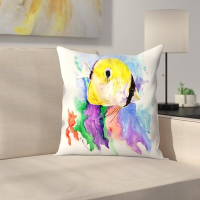 Coral Reef Fish 2 Throw Pillow Size: 14 x 14