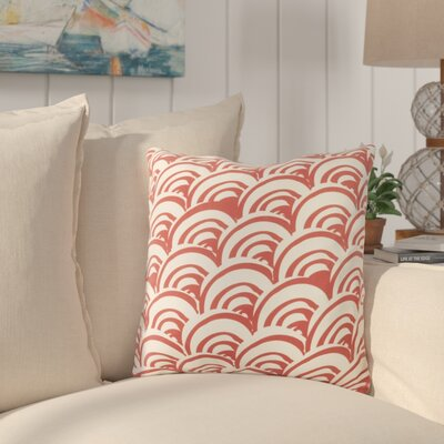Charter Oak Cotton Throw Pillow Size: 18 H x 18 W x 4 D, Color: RedNeutral