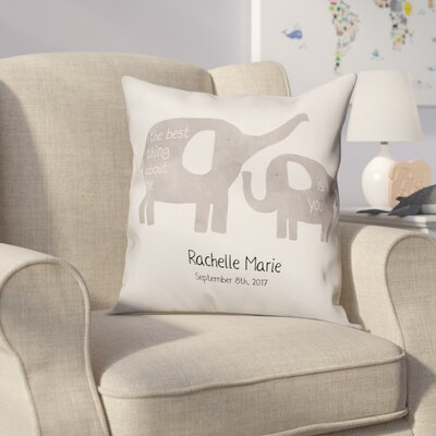Didmarton Happy Elephants Throw Pillow